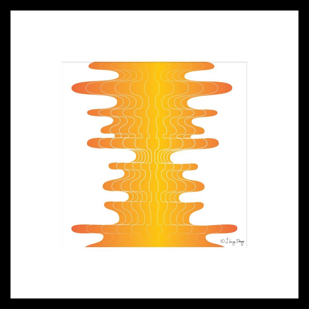 OrangeStripes_framed